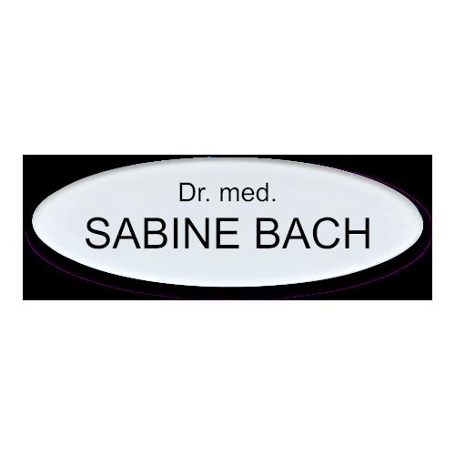 Namensschild aus Plexiglas, ovale Form