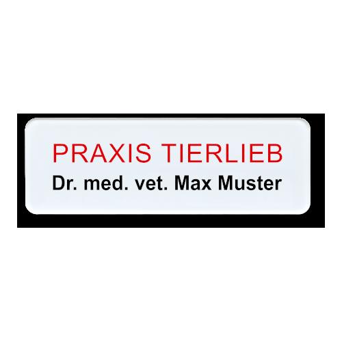 Namensschild aus Plexiglas, Rundeck