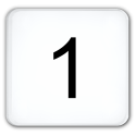 1 (nur Zahl)