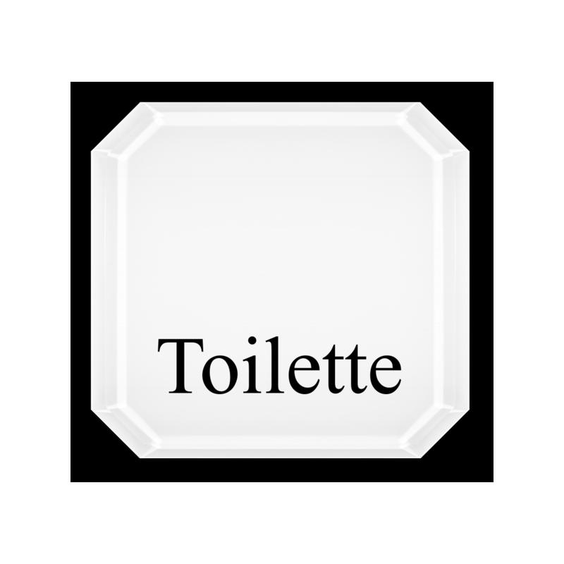 plexiglas rundeckenschild toilette. Black Bedroom Furniture Sets. Home Design Ideas