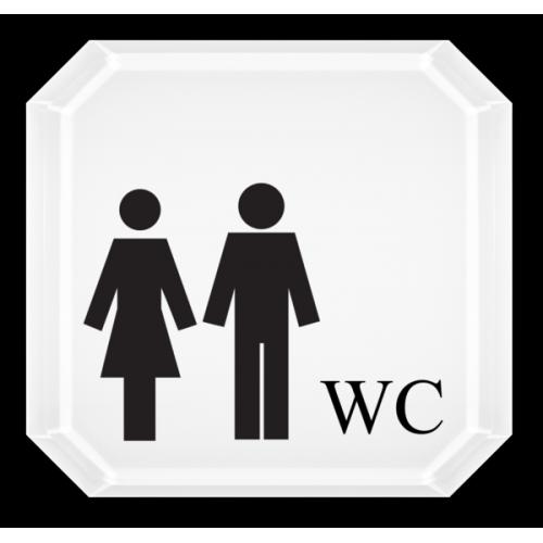 WC Damen und Herren (mit Symbolen)