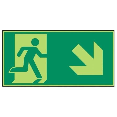 Rettungsweg, rechts abwärts - E002