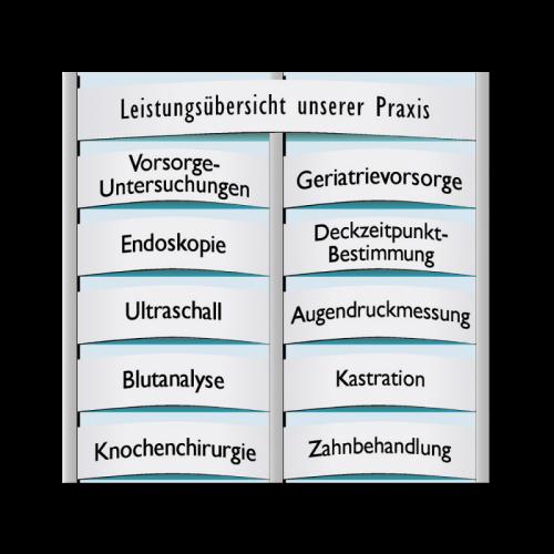 Grundplatte 2-spaltig für Infodisplay