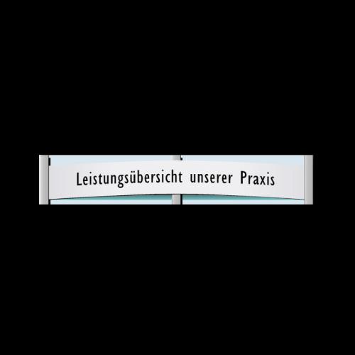 """Einsteckschild """"Überschrift"""" für Infodisplay, nur für 2-spaltige Grundplatten"""