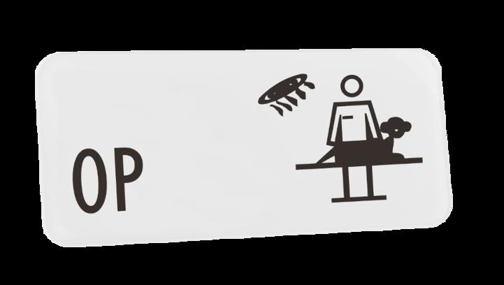 Typ BONN 300 x 135 mm, mit Symbol, VETERINÄR